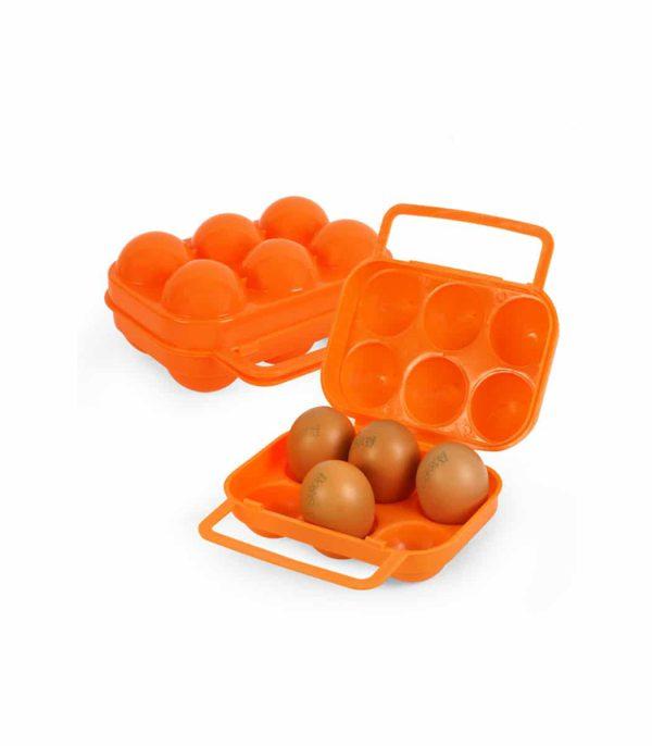 מארז לנשיאת 6 ביצים בעל ידית נשיאה במצב פתוח