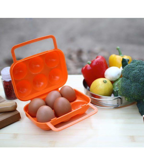 שימוש במארז לנשיאת 6 ביצים בשטח