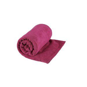 מגבת טיולים עשויה מיקרופייבר המתייבשת מהר בורדו