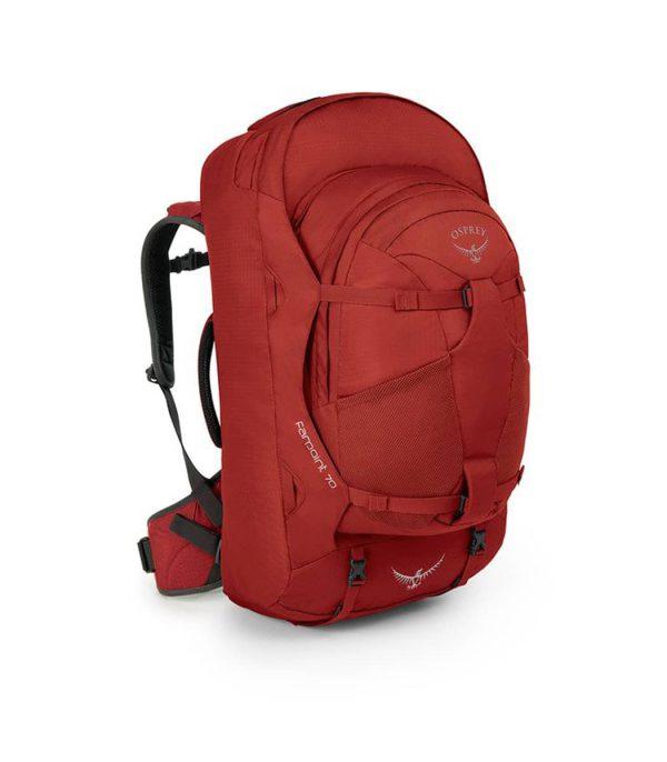 תיק ייעודי לנסיעות ולחיילים בנפח 70 ליטר אדום