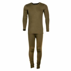 סט חולצה ומכנס תרמי ירוק לשמירה על חום הגוף