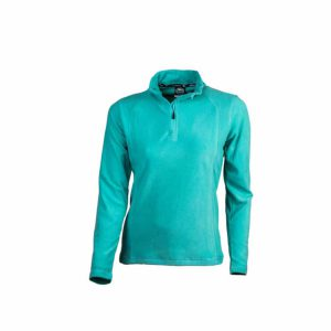 חולצת מיקרופליס טורקיז לנשים קלה ונוחה לשימוש יומיומי או טיולים