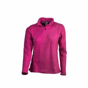 חולצת מיקרופליס פוקסיה לנשים קלה ונוחה לשימוש יומיומי או טיולים