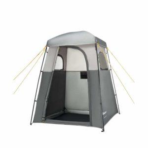 דלת אוהל מקלחת/שרותים מצב פתוח