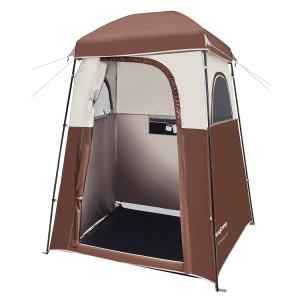 אוהל מקלחת/שירותים לקמפינג צבע חום