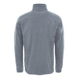 חולצת מיקרופליס אפורה לגברים תצוגת גב