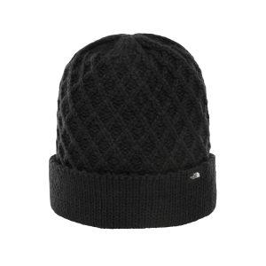 כובע נשים בצבע שחור דגם צמר קלוע