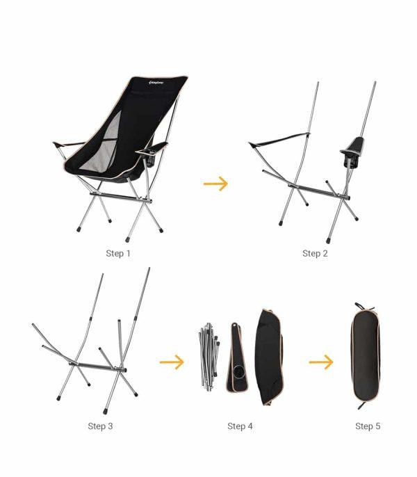 שלבי קיפול הכסא