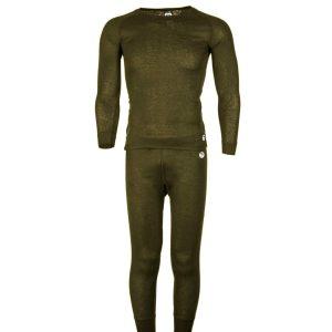 סט ביגוד תרמי יוניסקס ירוק מבודד מקור ושומר על חום הגוף