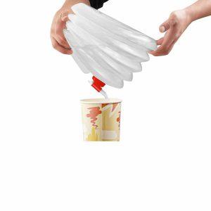 שימוש במיכל מים גמיש מתקפל 8 ליטר