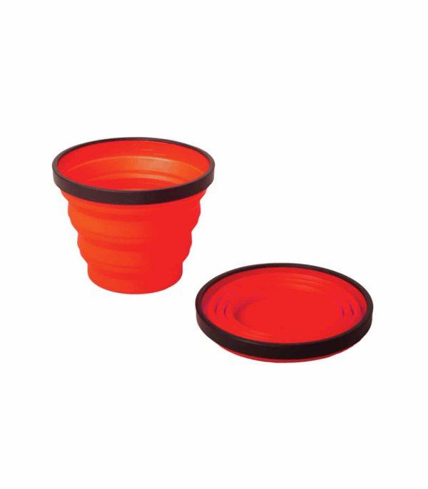 """כוס סיליקון מתקפלת בנפח 250 מ""""ל אדום"""