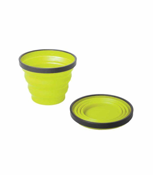 """כוס סיליקון מתקפלת בנפח 250 מ""""ל צהוב"""
