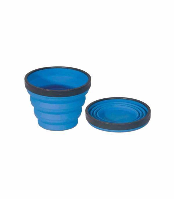 """כוס סיליקון מתקפלת בנפח 250 מ""""ל כחול"""