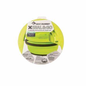 אריזת קערת סיליקון מתקפלת עם מכסה ירוק
