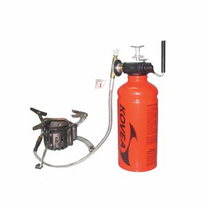 גזיית הברגה קומפקטית, ראש גז יושב על מיכל ההברגה.