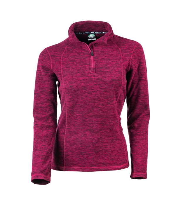 חולצת מיקרופליס בורדו לנשים קלה ונוחה לשימוש יומיומי או טיולים