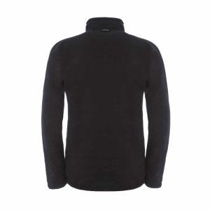 גב מעיל פליס קליל ומחמם רוכסן מלא בצבע שחור