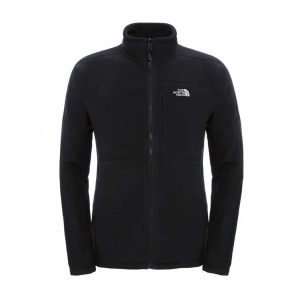 מעיל פליס קליל ומחמם רוכסן מלא בצבע שחור