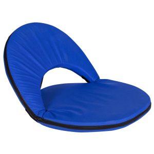 מושב נוח מרופד מתקפל בצבע כחול
