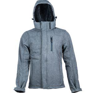 מעיל מבודד, אטום למים ורוח בצבע אפור