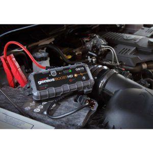 שימוש בסוללה נטענת המאפשרת התנעת רכב עם מצבר תקול, ללא עזרת רכב נוסף.