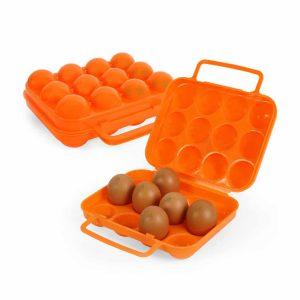 מארז לנשיאת 12 ביצים בעל ידית נשיאה במצב פתוח