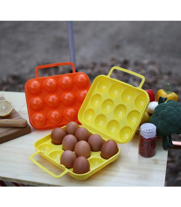 שימוש במארז לנשיאת 12 ביצים בשטח