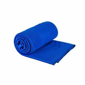 מגבת מטיילים קומפקטית מאוד המתייבשת מהר כחול