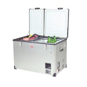 מקרר/מקפיא לרכב בנפח 56 ליטר בעל 2 תאים