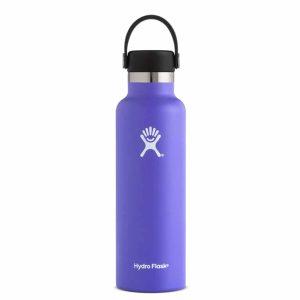 בקבוק שתיה קרה/חמה עשוי נירוסטה, מבודד על ידי וואקום סגול