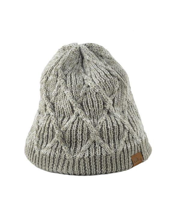 כובע חורפי לנשים מצמר מרינו אפור