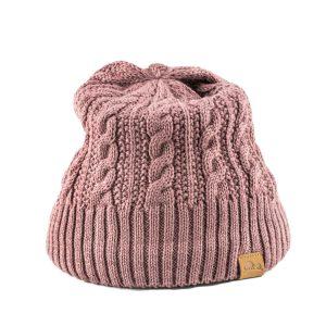 כובע חורפי לנשים מצמר מרינו סגול