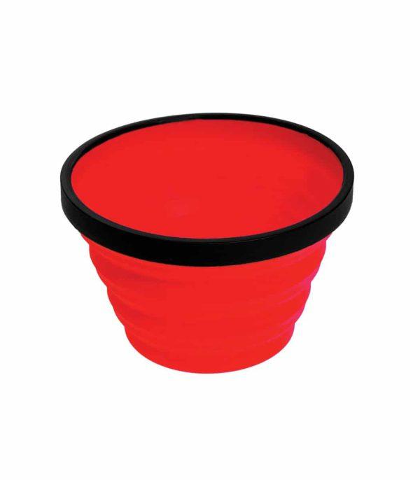 """כוס סיליקון מתקפלת בנפח 650 מ""""ל אדום"""