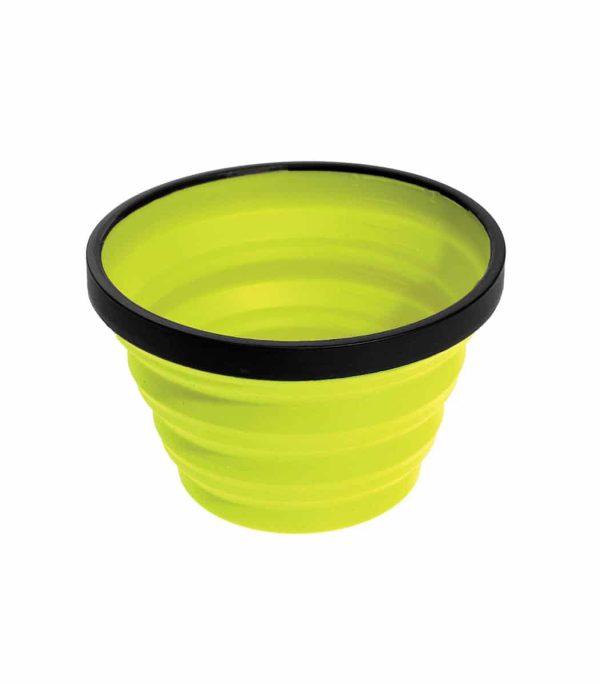 """כוס סיליקון מתקפלת בנפח 650 מ""""ל צהוב"""