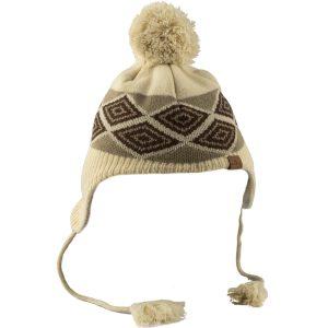 כובע חורפי מצמר עם הגנה על האוזניים בז'
