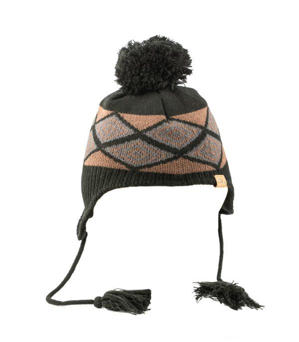 כובע חורפי מצמר עם הגנה על האוזניים