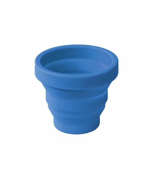 כוס סיליקון קטנה מתקפלת כחול
