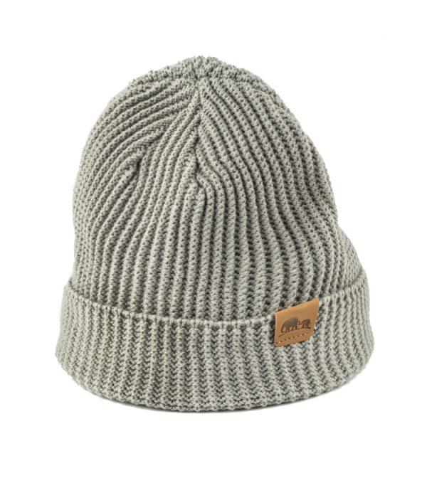 כובע חורפי טבעוני- עשוי מבד סינטטי אפור