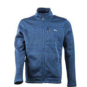ג'קט פליס מחמם עם רוכסן, בצבעי מלאנג' , יכול לשמש ליומיום ולטיולים בצבע כחול