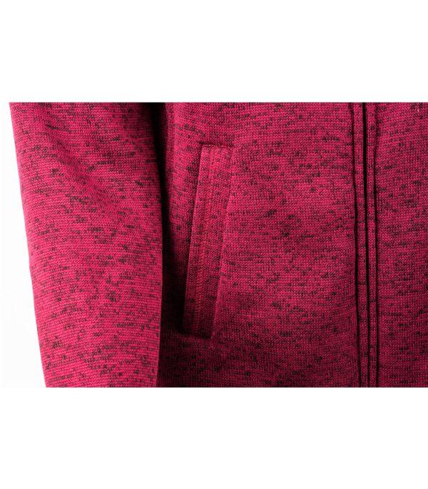 ג'קט פליס מחמם עם רוכסן, בצבעי מלאנג' , יכול לשמש ליומיום ולטיולים