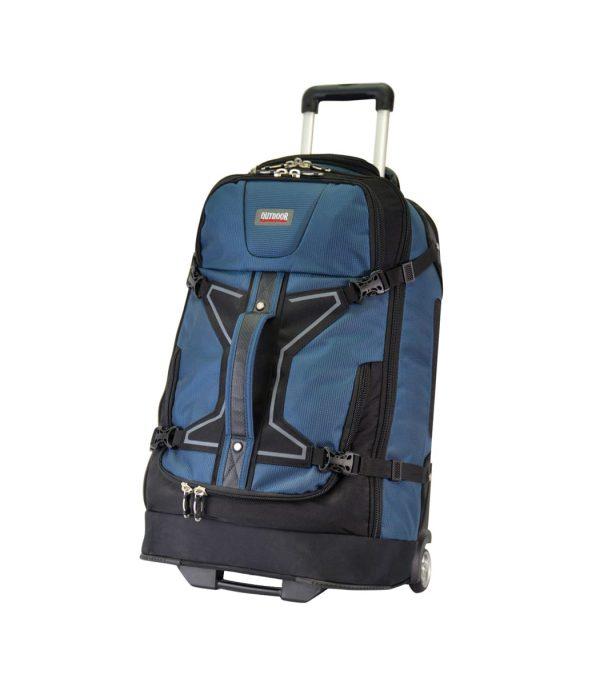 תיק נסיעות על גלגלים בנפח 105 ליטר כחול