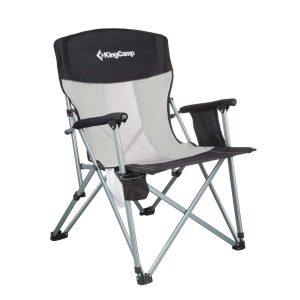 כיסא שטח עמיד וגדול במיוחד, עשוי מסגרת ברזל מסיבית, עם ידיות קשיחות