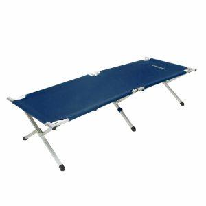 מיטת שדה מתקפלת מאלומיניום בצבע כחול
