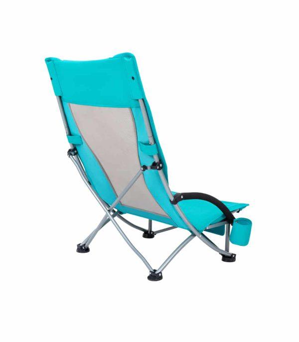 גב כסא ים מתקפל עם משענת גבוהה