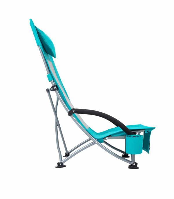 פרופיל כסא ים מתקפל עם משענת גבוהה