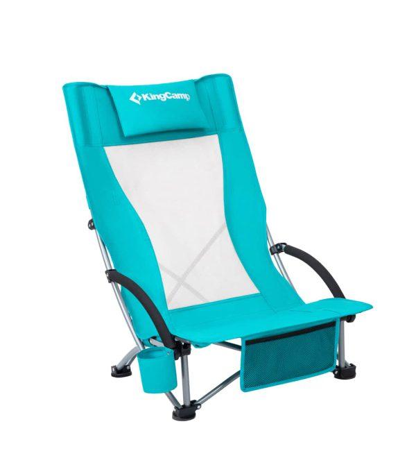 כסא ים מתקפל עם משענת גבוהה