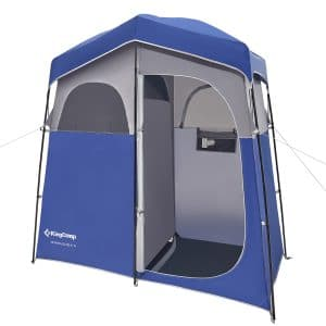 שלבי פתיחה/קיפול אוהל מקלחת זוגי