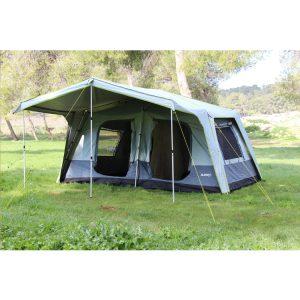 אוהל ל-12 אנשים בעל מרפסת שמש