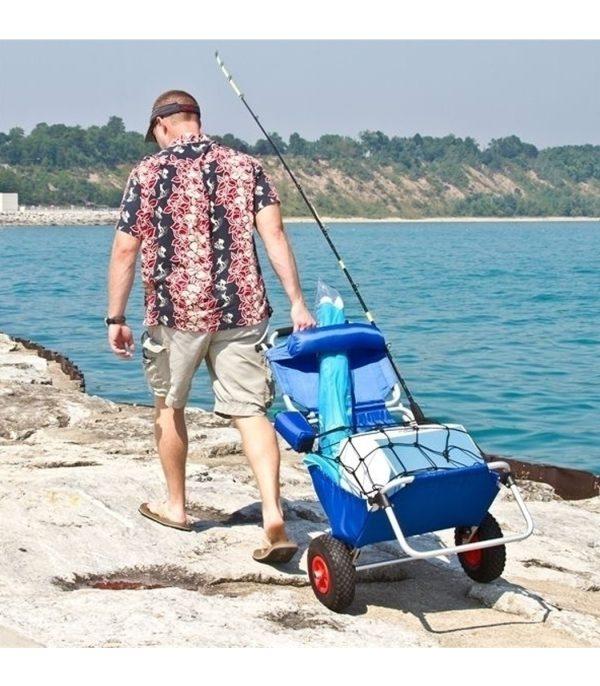 עגלת חוף עם שני גלגלים לנשיאת ציוד