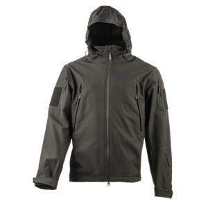 מעיל Soft Shell טקטי - אטום לרוח ולמים. צבע שחור